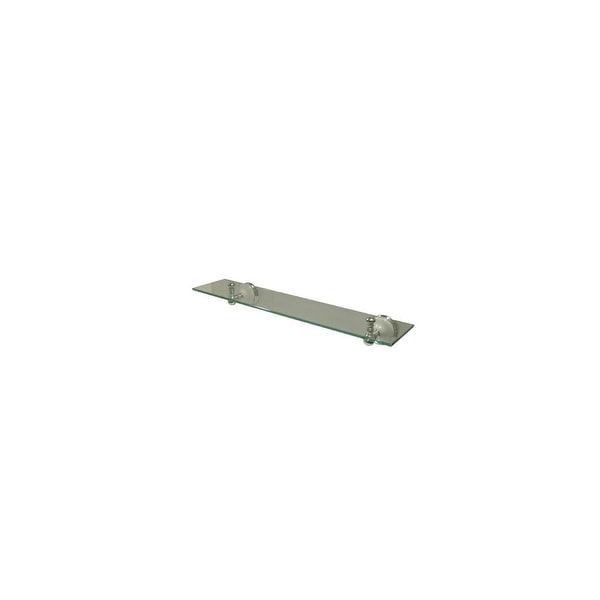 """Elements of Design EBA1119C 21-5/8"""" Wall Mounted Glass Shelf from the - Chrome. Opens flyout."""