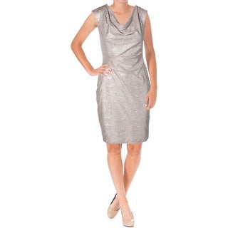 Vince Camuto Womens Metallic Prom Cocktail Dress