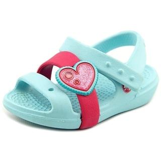 Crocs Keeley Heart Infant N Open-Toe Synthetic Blue Sport Sandal