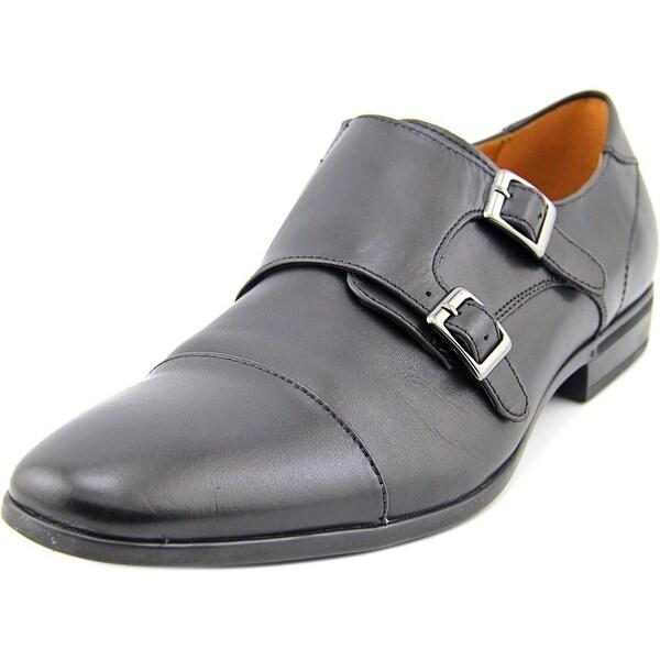 Aldo Giawiel Men Round Toe Leather Black Oxford