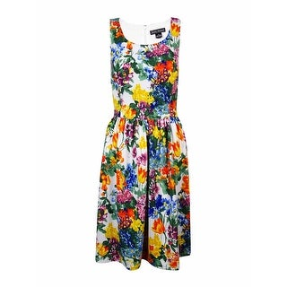 Jessica Howard Woman's Floral Printed Knit Dress - 8