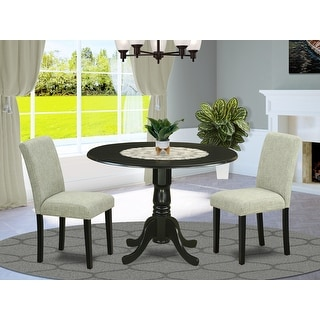 Link to Round 42 Inch Table and Parson Chairs in Shitake Linen Fabric (Number of Chairs Option) Similar Items in Dining Room & Bar Furniture