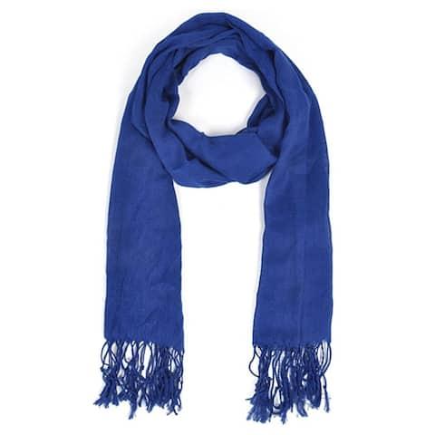 Women's Royal Blue Viscose Scarf Scarves LS4360 - Regular