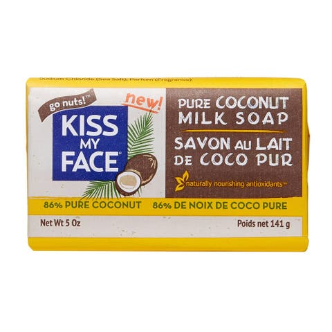 Pure Coconut Milk Bar Soap by Kiss My Face for Unisex - 5 oz Soap - 5 oz
