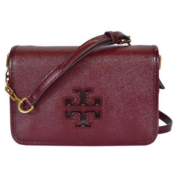 5242ceab153 Tory Burch Agate Patent Leather Mini Britten Crossbody Purse Bag Clutch -  8.4