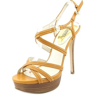 Michael Michael Kors Cicely Platform Open Toe Leather Platform Sandal