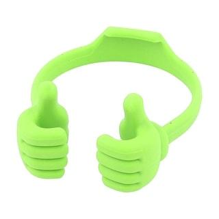 Unique Bargains Plastic Thumb Cradle Stand Holder Bracket Green for Tablet Mobile Phone