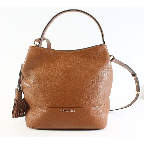 bbff84f11e4e2e Shop Michael Kors NEW Brown Pebble Leather Kip Large Bucket Satchel ...
