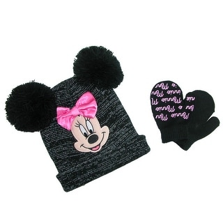 Disney Infant / Toddler's Minnie Mouse Hat and Mitten Winter Set