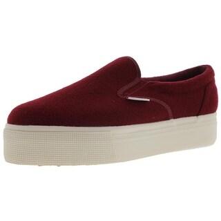 Superga Womens Polywool Flatform Slip On Fashion Sneakers - 10 medium (b,m)