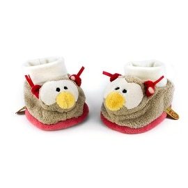 Rattling Owl Baby Booties