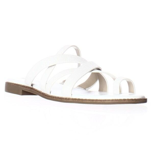 Via Spiga Reese2 Toe Loop Slide Sandals, White - 8 us / 38 eu