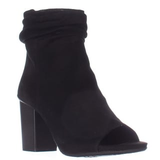 Kenneth Cole REACTION Fridah Cool Peep Toe Ankle Booties - Black