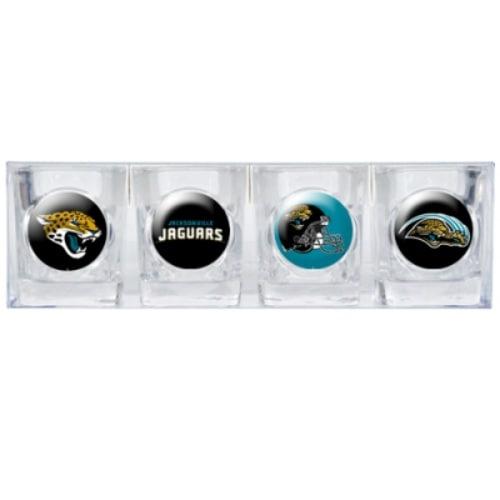 Great American Products Jacksonville Jaguars Shot Glass Set 4pc Collectors Shot Glass Set
