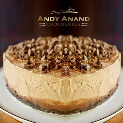 "Mocha Espresso Cheesecake 9"" With 2nd Day Shipping (3 lbs)"