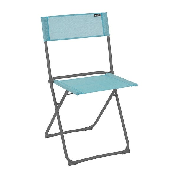 Folding Chair - Set of 2 - Basalt Steel Frame - Lac Fabric