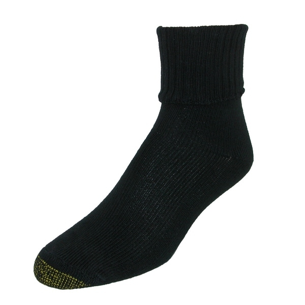 Gold Toe Women's Turn Cuff Extended Size Anklet Socks (3 Pair Pack)