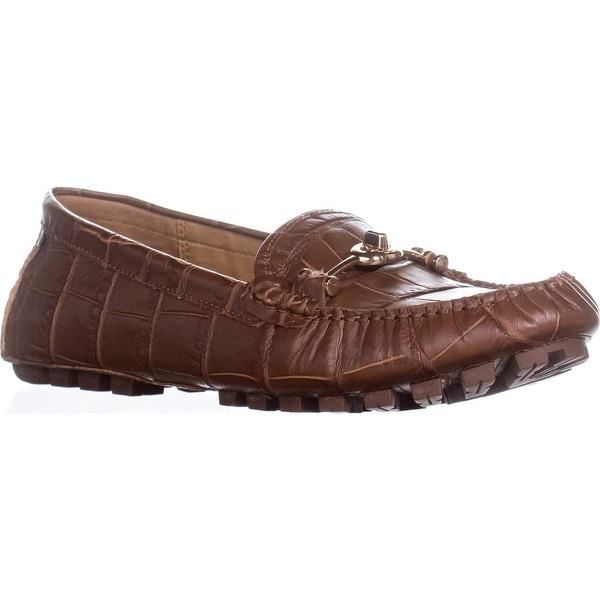 Coach Arlene Turnlock Casual Loafer Moccasins, Dark Saddle