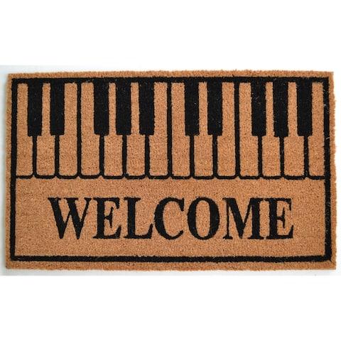 Piano Keys Welcome Outdoor DoorMat