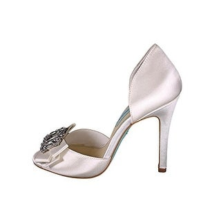 Betsey Johnson Womens SB Glam Open Toe D-orsay Pumps