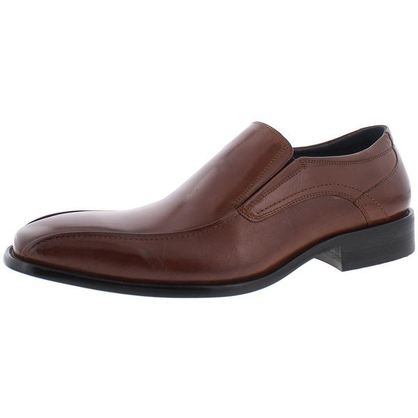 Mens Grayson Leather Square Toe Loafers