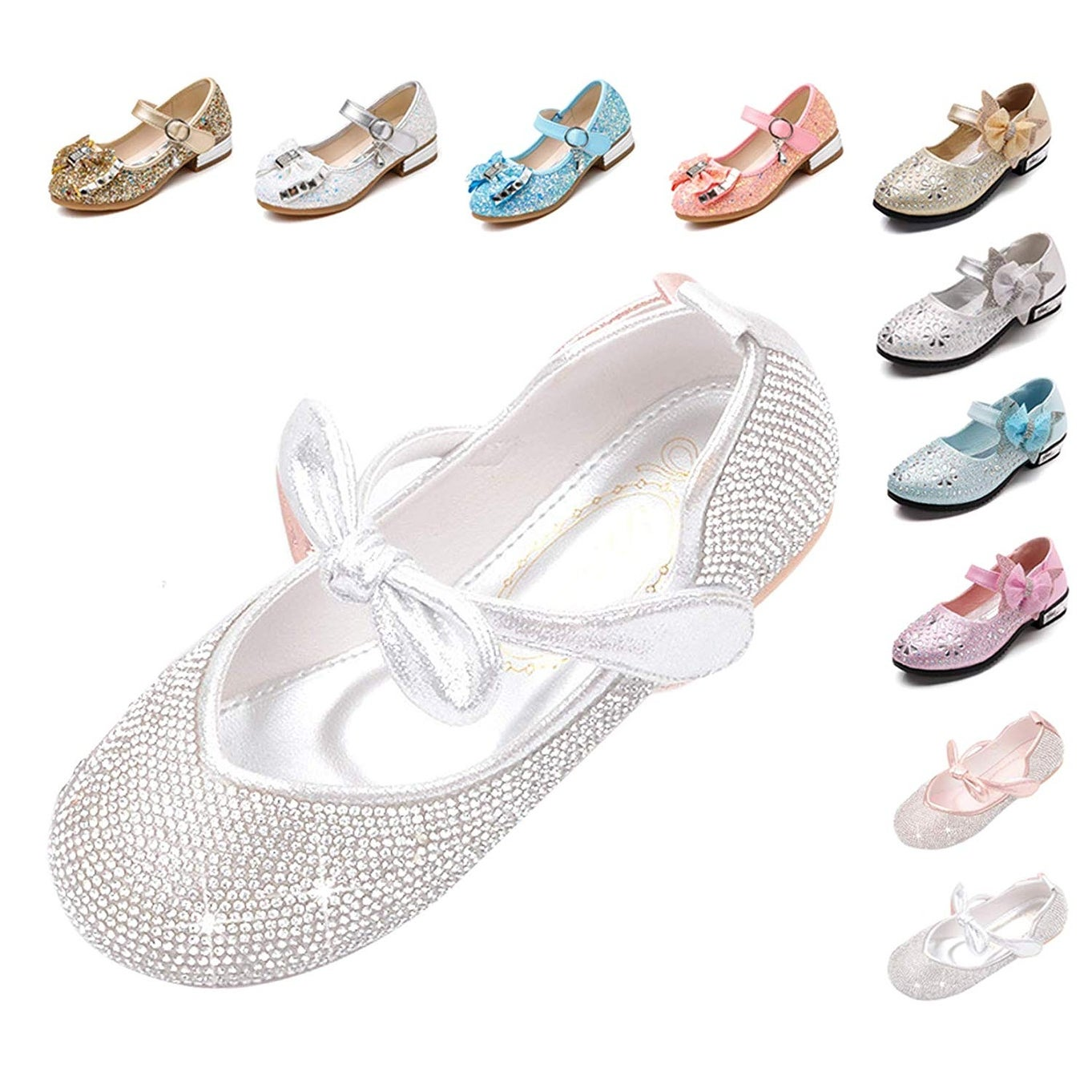 Blue-EU 26//9 M US Toddler .jpg YYZHAO Girls Party Shoes Glitter Sequins Mary Jane Princess Shoes