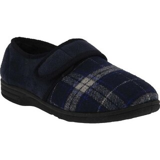 Spring Step Men's Boris Slipper Navy Multi Microsuede