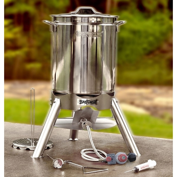Bayou Classic® 44-qt Stainless Turkey Fryer Kit with Cooker. Opens flyout.