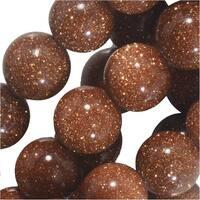 Dakota Stones Gemstone Beads, Goldstone, Round 8mm, 8 Inch Strand