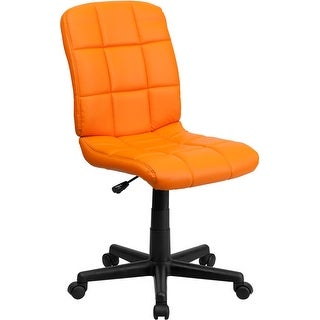 Aberdeen Mid-Back Orange Quilted Vinyl Swivel Home/Office Task Chair