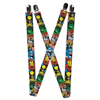 Buckle Down Kids' Elastic Marvel Avengers Clip End Suspenders - Multi - One Size