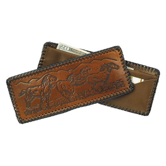 Laced Leather Wallet with assorted Designs - One size