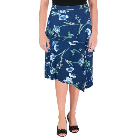 Ivanka Trump Womens Maxi Skirt Crepe Floral Print