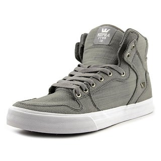 Supra Vaider Men  Round Toe Canvas Gray Skate Shoe