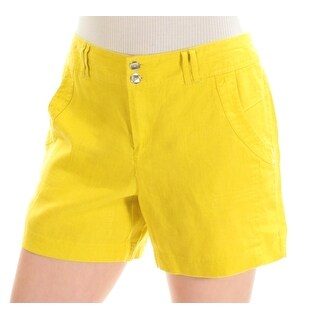 Womens Yellow Casual Short Size 6