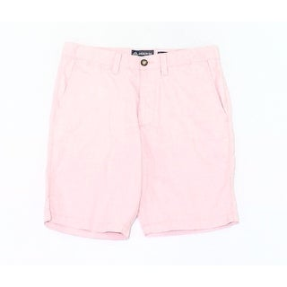 American Rag NEW Red Mens Size 32 Striped Slim-Fit Button-Closure Shorts