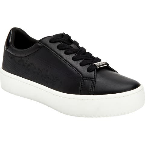 Calvin Klein Womens Clarine Eco Fashion Sneakers Platforms Lace-up