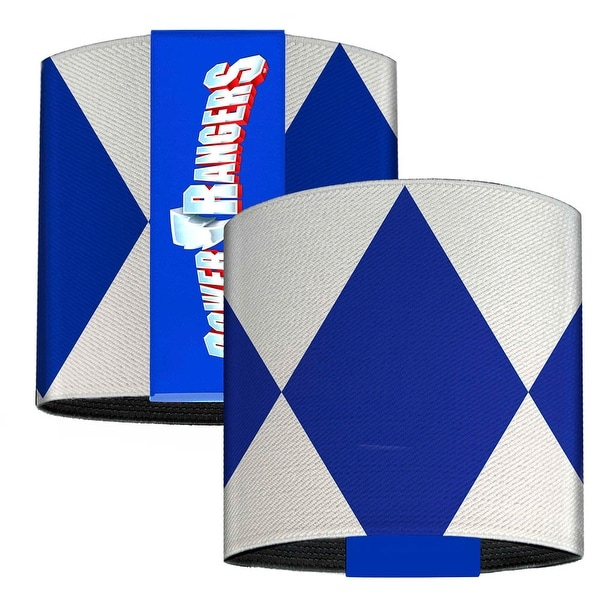 Blue Ranger Sleeve Diamonds White Blue Elastic Wrist Cuff