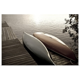 """""""canoes on a dock"""" Poster Print"""