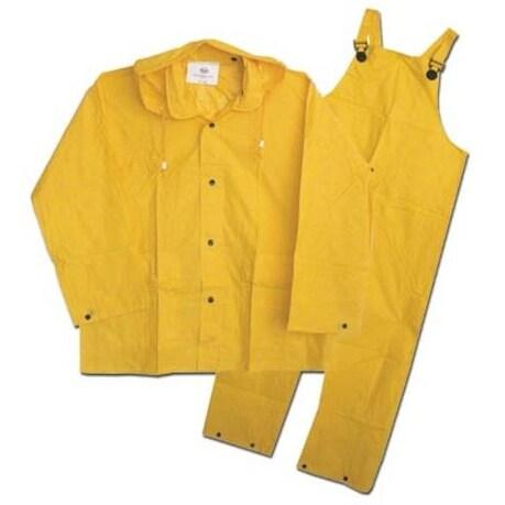 Boss 3PF2000YL Rain Suit Large, 20 Mil, Yellow