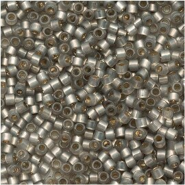 Miyuki Delica Seed Beads 11/0 - Silver Lined Light Taupe Alabaster DB630 - 7.2g