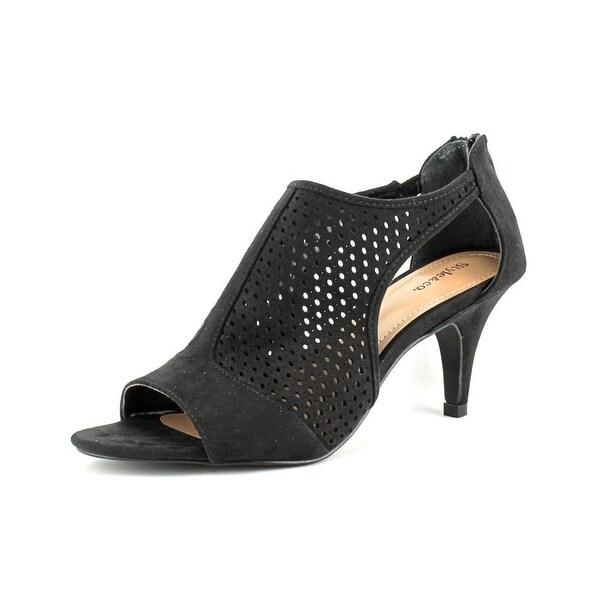 Style & Co Helaine Women Open-Toe Synthetic Black Bootie