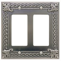 Atlas Homewares VDR Venetian Double Rocker Switch Plate - PEWTER - N/A