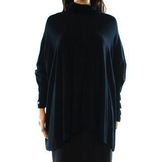 Alfani NEW Deep Black Womens Size XL Turtleneck Knit Batwing Sweater