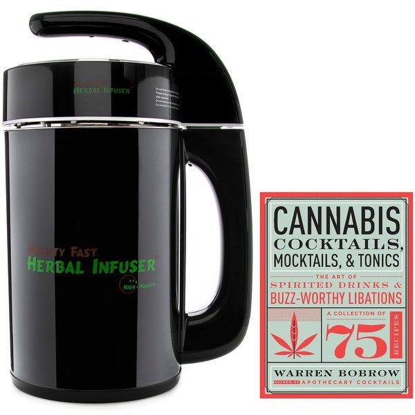 Mighty Fast Herbal Infuser from High and Mighty with Cannabis Cocktails Cookbook