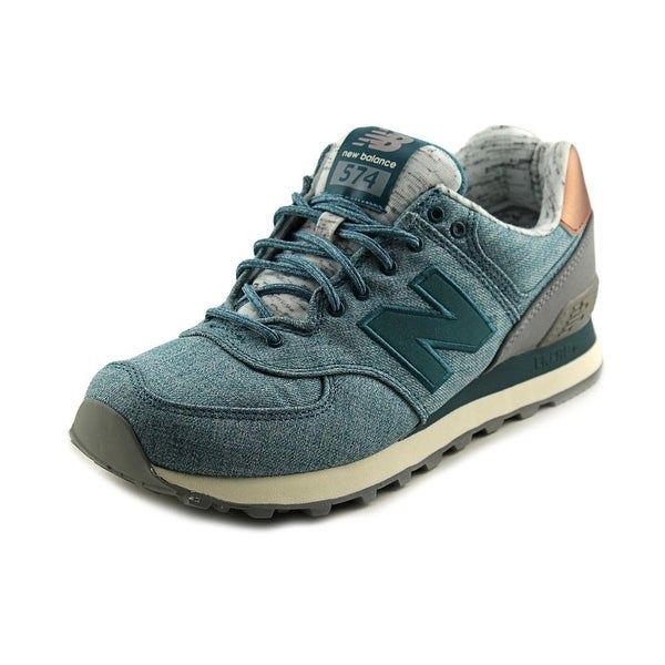 New Balance WL574 Women Synthetic Blue Fashion Sneakers