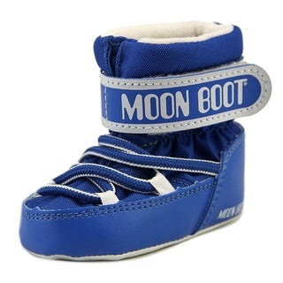 Tecnica Moon Boot Crib Infant Round Toe Canvas Blue Winter Boot