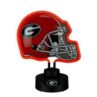 University of Georgia Bulldogs Football Helmet Neon Tabletop Statue Accent Lamp - Red