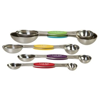 Prepworks by Progressive Snap Fit Measuring Spoons, Stainless Steel, Set of 5