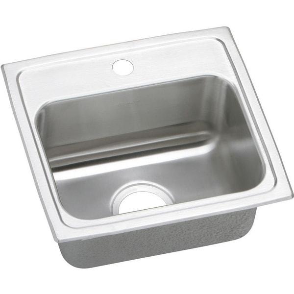 Elkay Celebrity 17-In 20 Gauge Stainless Steel Single-Bowl Drop-In Kitchen Sink. Opens flyout.